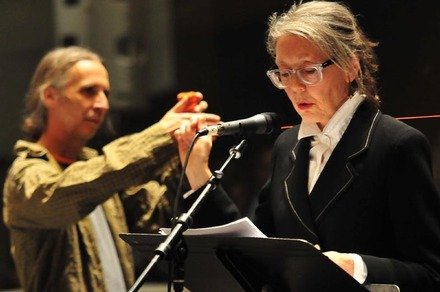 R. Currie and Anne Carson photo T Oelfke
